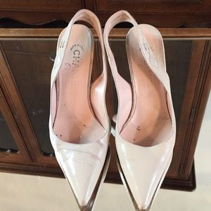 Chanel Nude Colored Slingback Heels